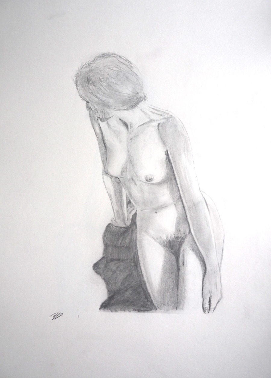 Seated Nude - Pencil sketch